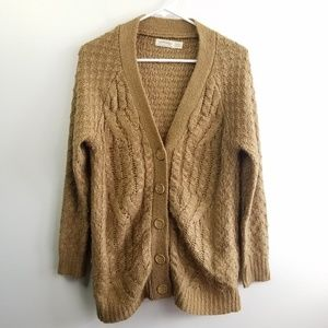 Faded Glory Brown Cardigan Size M (8-10)